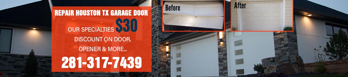 Repair houston tx garage door install overhead door for Houston garage door repair